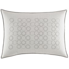 Bamboo Rayon Leaves Circles Cotton Breakfast Pillow
