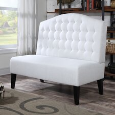 Upholstered Banquette in Ivory
