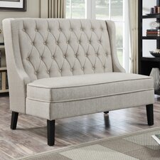 Upholstered Banquette in Oatmeal