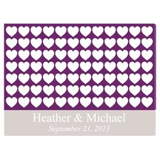 Personalized Gift Signature Heartful Wishes Graphic Art on Canvas