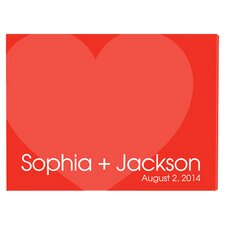 Personalized Gift Signature Love for Ever Graphic Art on Canvas