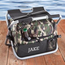12 Can Personalized Gift Deluxe Camouflage Sit and Sip Cooler