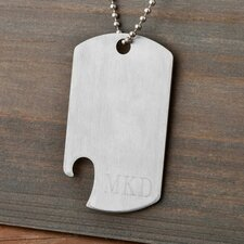 Personalized Gift Dog Tag Bottle Opener