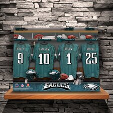 Personalized Locker Room Photographic Print on Wrapped Canvas