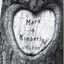 Personalized Tree of Love Photographic print on Canvas