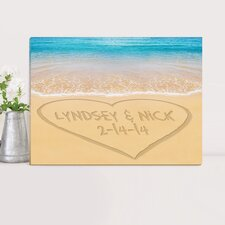 Personalized Couples Photographic print on Wrapped Canvas