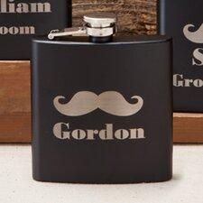 Matte Mustache Flask