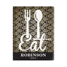 Personalized Gift Bistro Sign Textual Art on Canvas