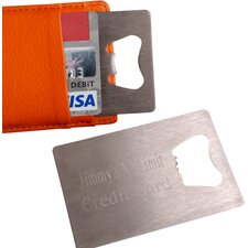 Personalized Gift Credit Card Bottle Opener