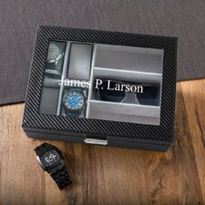 Personalized Men's Watch and Sunglass Box
