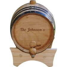 Personalized Gift 2 Liter Wine Barrel