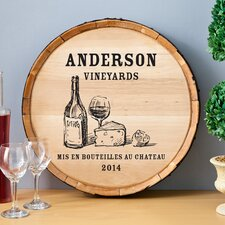 Personalized Gift Wine Barrel Home Décor Sign Wall Décor