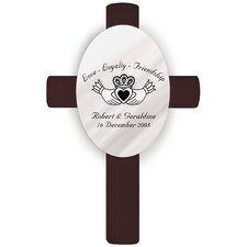Personalized Gift Oval Wedding Cross Claddagh Wall Décor