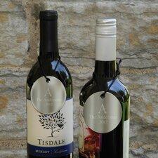 Personalized Gift Monogram Wine Bottle Medallion (Set of 2)