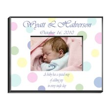 Personalized Gift Polka Dot Picture Frame