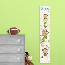Personalized Gift Kids Canvas Height Growth Chart