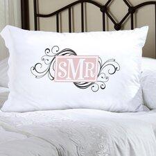 Personalized Gift Felicity Cheerful Monogram Pillowcase