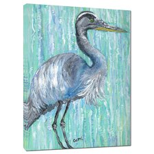 Heron by Gerri Hyman Painting Print on Wrapped Canvas