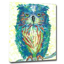 Owl Mounted Giclee by Gerri Hyman Painting Print on Canvas
