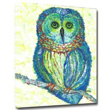 Owl by Gerri Hyman Painting Print on Wrapped Canvas