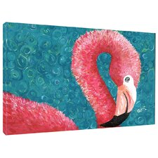 Flamingo by Gerri Hyman Painting Print on Wrapped Canvas