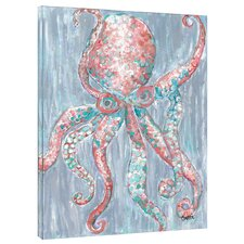 Octopus by Gerri Hyman Painting Print on Wrapped Canvas
