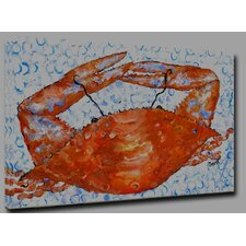 Crab by Gerri Hyman Painting Print on Wrapped Canvas
