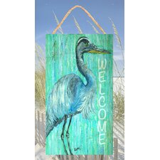 Heron Welcome Sign Wall Decor