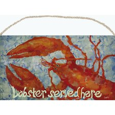 Whimsical Lobster Wood Sign Wall Décor