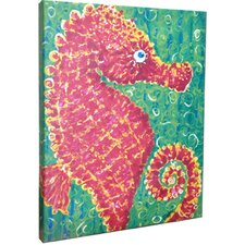 Seahorse Mounted by Gerri Hyman Painting Print on Canvas