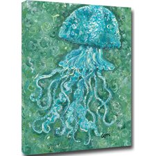 Jellyfish Mounted by Giclee Gerri Hyman Painting Print on Canvas