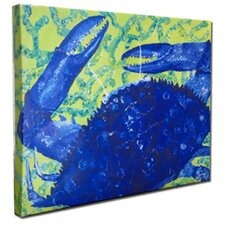 Crab Mounted by Gerri Hyman Painting Print on Canvas