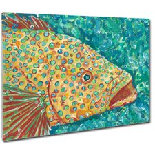 Spotted Grouper Mounted by Giclee Gerri Hyman Painting Print on Canvas