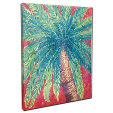 Palm Tree Mounted by Gerri Hyman Painting Print n Canvas