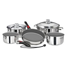 Nestable Non-Stick Stainless steel 10 Piece Cookware Set