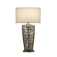 "Bird's Nest Heart 30"" H Table Lamp with Oval Shade"