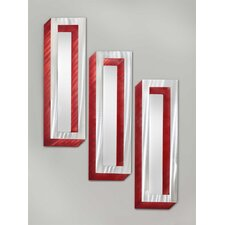 3 Piece Shadow Boxes Wall Mirror