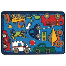 Wheels on the Go Kids Rug
