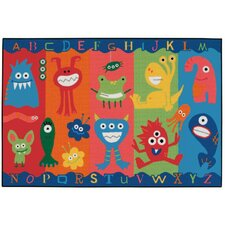 Alphabet Monsters Kids Area Rug