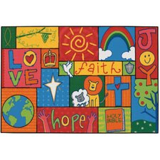 Inspirational Patchwork Kids Rug