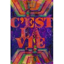 C'est La Vie Painting Print on Wrapped Canvas