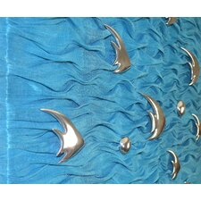 Blue Bubble Fish Wall Décor