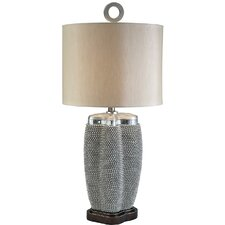 """Pearl Stone 32.5"""" H Table Lamp with Drum Shade"""