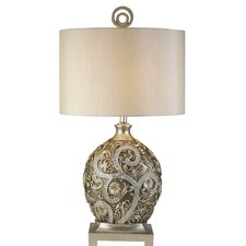 """Silver Vine 31.5"""" H Table Lamp with Drum Shade"""