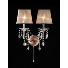 Rosie Crystal 2 Light Wall Sconce