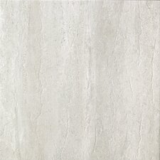 "Travertini 16.75"" x 16.75"" Porcelain Field Tile in Grigio"