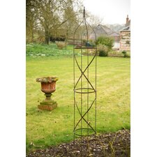 2 Piece Metal Garden Obelisk Set