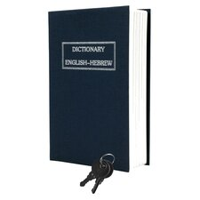 Dictionary Diversion Metal Key Lock Book Safe