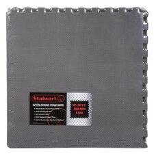 Gray EVA Foam Floor Mats Set of 6 (Set of 6)