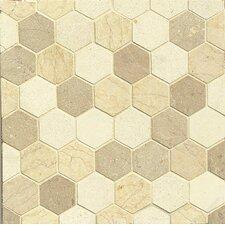 """2"""" x 2"""" Limestone Mosaic Tile in Beige"""